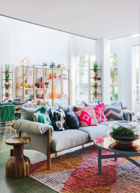 home inspiration - colorful living room