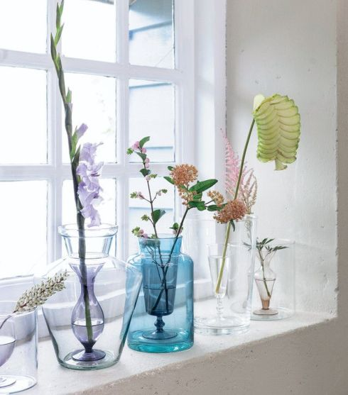 home inspiration - glass vases