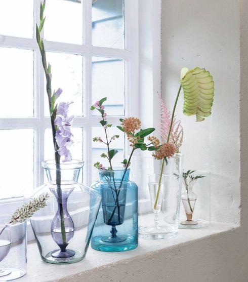 home inspiration - glass vases