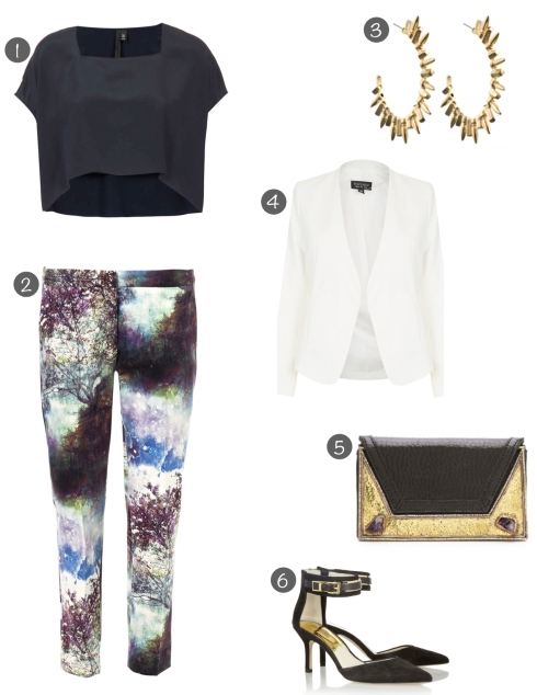work it - printed pants - night